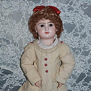Antique French Bisque Doll Closed Mouth TeTe Jumeau Straight Leg French Composition Body