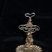 Antique Doll Miniature Cherub Ormolu Parasol Umbrella Stand Ornate