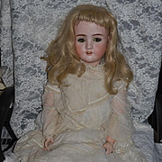 "Antique Doll HUGE 1906 Schoeneau & Hoffmeister Bisque Doll 36"" Tall S.P.B.H."