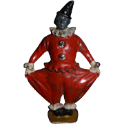 Old Miniature Dollhouse Metal Jester Clown From England Britains