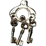 Doll Dollhouse Miniature Ring of Old keys