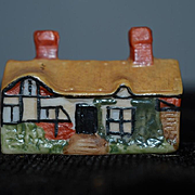 Vintage Doll Dollhouse Miniature THE HATHAWAY Cottage Staffordshire Marked
