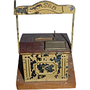 Antique Doll Register Miniature Dollhouse Kasse Metal Tin Cash Register For Store Working Drawer Doll Store