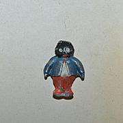 Antique Doll Golliwog Black Doll Miniature Metal Unusual Dollhouse
