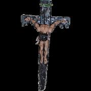 The Way of The Cross De Grazia Jesus on Cross Figurine Large Goebel Porcelain