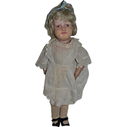Antique Doll Schoenhut Wood Carved Jointed Character Sweet Girl Dressed!