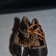 Old Doll Leather Shoes Sweet