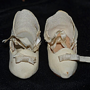 Sweet Vintage Doll Leather Shoes For Bisque Doll