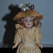 Antique Doll Petite Bisque K*R Kammer Reinhardt Simon Halbig  Articulated Body Sweet! Cabinet Size