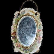 Old Victorian Mirror Miniature Dollhouse Sweet Unusual Paper