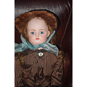 """Antique Doll French FG Gaultier BeBe Gesland Body Closed Mouth 24"""" Tall"""