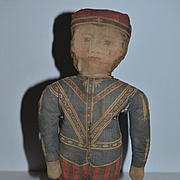 Old Doll Cloth Doll Soldier Printed Cloth