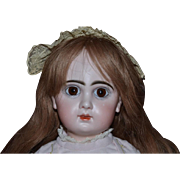 Antique Doll French Bisque Tete Jumeau BeBe Closed Mouth Georgous
