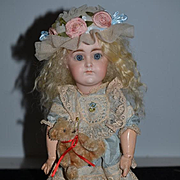Antique Doll French Market Bisque Closed Mouth W/ Jumeau Signed Body Petite Size Kestner