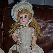 Antique Doll French Bisque Closed Mouth TeTe Jumeau W/ Pull String Talker