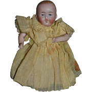 Old Doll Bisque Miniature All Bisque Dollhouse Jointed Baby