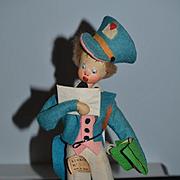 Old Doll Cloth Doll Felt Doll Klumpe Mailman W/ Original Tag