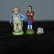 Old Staffordshire Miniature Figurine Lot For Dollhouse or Doll