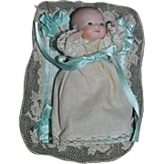 Vintage Doll Miniature Artist Baby Doll Dollhouse W/ Clothes and Bedding