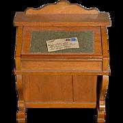 Wonderful Doll Miniature Artist Wood Desk W/ Mail