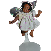 Miniature Black Doll For Dollhouse Artist Wonderful Face Jointed