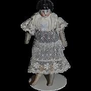 Old Doll China Head Miniature Dollhouse Lady Doll