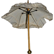 "Old Doll Miniature Parasol Umbrella For Doll 11"" Tall"