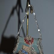 Antique Doll Miniature Beaded Purse Fashion Doll Fringe Pocketbook