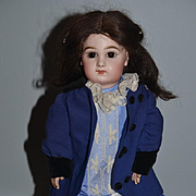 Antique French Doll TeTe Jumeau Closed Mouth Gorgeous Marked Head and Body