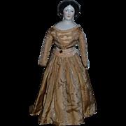 Antique Doll China Head Conta & Boehme  Gorgeous Braided Chignon Center Part