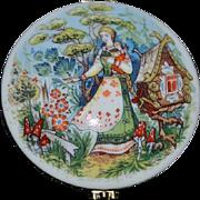 Wonderful Porcelain Trinket Box Hinged Vasilisa The Beautiful A girl and her Magical Doll Lucy Maxym