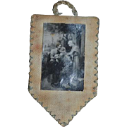 Old Doll Miniature Religious Wall Hanging For Dollhouse