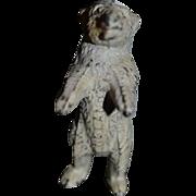 Old Miniature Dollhouse Cold Painted Bear Polar Bear For Doll Figurine