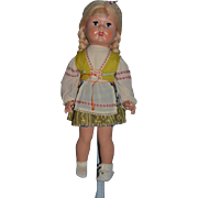 Vintage Doll In Original Clothing Composition