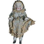 Antique China Head Bisque Doll Miniature Dollhouse Jointed Frozen Charlotte