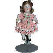 Antique Doll Miniature All Bisque Fancy Doll Dollhouse Jointed