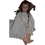 "Antique Doll French Bisque BeBe DEP Tete Jumeau Original Body Paper Label 32"" Tall GOrGeOus"
