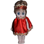 Old Doll Bisque Miniature Big Eyes Hertwig Dollhouse