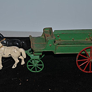 Old Doll Cast Iron Horse and Carriage for Miniature Doll Toy horses