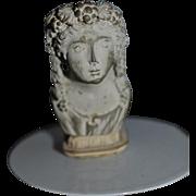 Vintage Doll Miniature Bust Dollhouse Ornate Statue