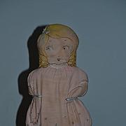 Old Cloth Doll Sewn Features Cute! Rag Doll