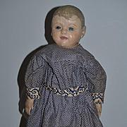 Antique Doll Cloth Doll Oil Cloth Painted Philadelphia Baby J. B. Sheppard So Charming!