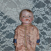 Antique Doll Composition & Wood Walking Doll Unusual