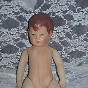 Antique Doll Cloth Doll Kathe Kruse Oil Cloth Sweet Doll Series 1 Signed