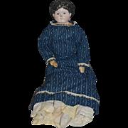 Antique Doll Papier Mache Papier Mache Cloth Body Large