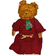 Sweet Old Teddy Bear Jointed Dressed