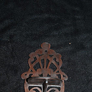 Old Wood Doll Miniature Ornate Carved Shelf Fashion Doll