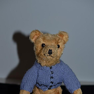 Old Teddy Bear Jointed Small Button Eyes Squeaker Mohair Adorable