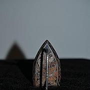 Antique Rare Miniature Amazoc Iron Doll Size Ornate Fancy Ornate Scroll Work Fashion Doll Size God- Child