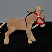 Vintage Steiff Donkey Button in Ear Cloth Doll miniature Doll Toy